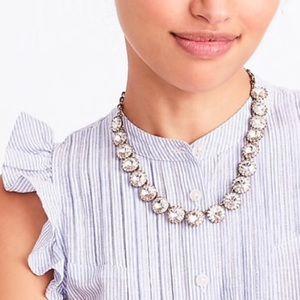 J Crew Brass Plated Diamond Necklace-NWOT